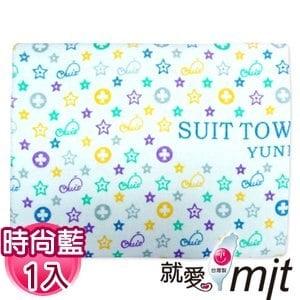 【微笑MIT】舒特 鯨魚絨面印花特大浴巾 YPR-570(時尚藍)