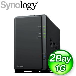 Synology 群暉 DiskStation DS218Play 2Bay NAS網路儲存伺服器