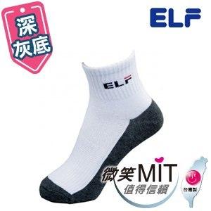 【微笑MIT】ELF 中性休閒襪 學生襪 6401(6雙/深灰底/M)