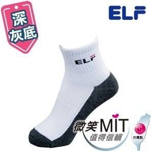 【微笑MIT】ELF 中性休閒襪 學生襪 6401LL(6雙/深灰底/L)