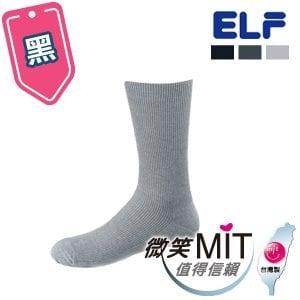 【微笑MIT】ELF 竹炭條紋男休閒除臭襪 5025(3雙/黑)