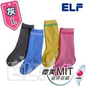 【微笑MIT】ELF 純棉寶貝半統襪 6801(6雙/灰/L)