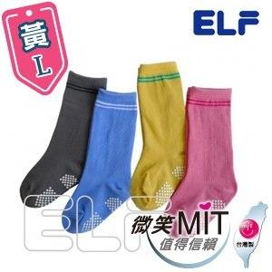【微笑MIT】ELF 純棉寶貝半統襪 6801(6雙/黃/L)