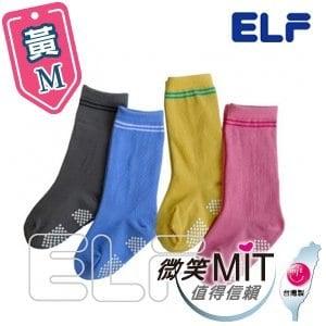 【微笑MIT】ELF 純棉寶貝半統襪 6801(6雙/黃/M)