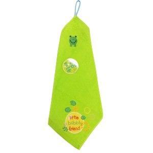 【Mocodo】綠色小蛙兒童掛巾(2條)