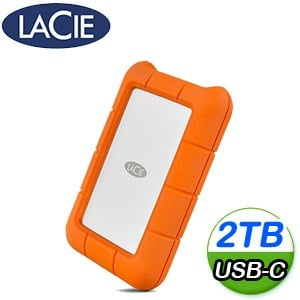 LaCie Rugged 2TB USB-C/USB3.0雙介面2.5吋外接硬碟(STFR2000800)