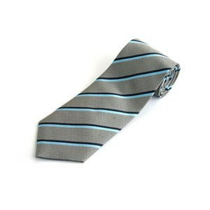 【FANYA】全真絲手工縫製紳士領帶-斜紋藍