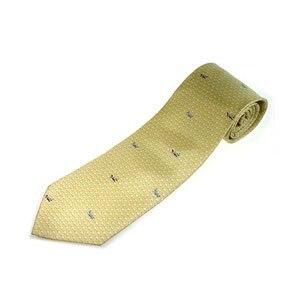 【FANYA】全真絲手工縫製紳士領帶-淺黃
