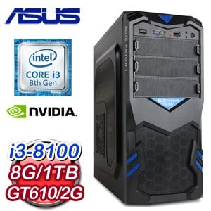 華碩 PLAYER【趁火打劫】Intel i3-8100 極速文書電腦