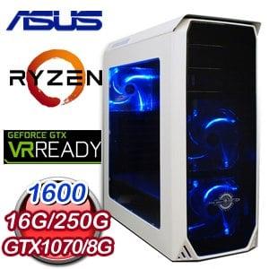 華碩 PLAYER【順手牽羊】AMD Ryzen 5 1600 獨顯高效能電腦
