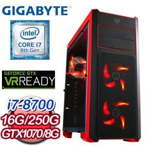 技嘉 HIGHER【反間計】Intel i7-8700 六核心 電競專屬電腦