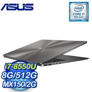 ASUS 華碩 ZenBook UX430UN-0191A8550U 14吋筆記型電腦(灰/i7-8550U/8G/512G/MX150/WIN10)