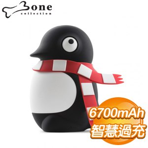 Bone 企鵝小丸公仔 6700mAh 行動電源《黑》