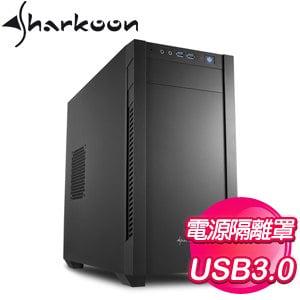 Sharkoon 旋剛【S1000 小暴風】M-ATX電腦機殼《黑》