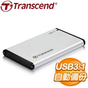 Transcend 創見 StoreJet 25S3 USB3.1 2.5吋外接盒