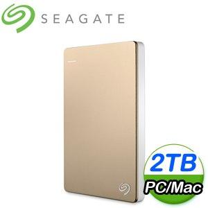 Seagate 希捷 Backup Plus Slim 2TB 2.5吋 USB3.0 外接式硬碟《金》