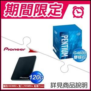 《1212求愛節》G4600處理器+Pioneer APS-SL2-N 120GB SSD
