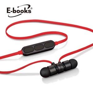 E~books S81 藍牙4.2無線磁吸入耳式耳機~黑