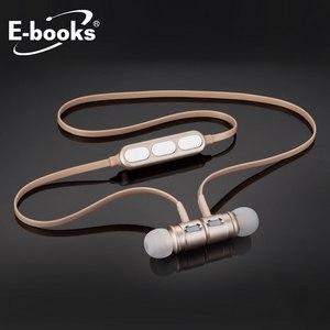 E~books S82 藍牙4.2鋁製磁吸入耳式耳機~金