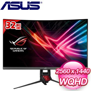 ASUS 華碩 ROG Strix XG32VQ 32型 電競曲面液晶螢幕