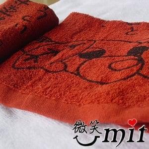 【微笑MIT】舒特 茶犬印花茶巾 FTD-033(咖啡/3入)