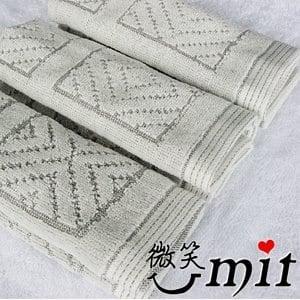 【微笑MIT】舒特 竹炭方格絨面方巾 BFPL-650(灰色/3入)