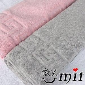 【微笑MIT】舒特 素雅提花腳墊 LJC-400(粉)