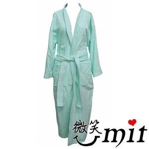 【微笑MIT】舒特 素雅絨面大浴袍 PPL-606(藍)