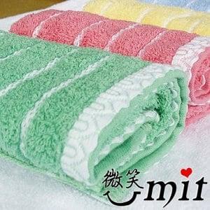 【微笑MIT】舒特 蕾絲素雅童巾 TPL-737(綠/3入)