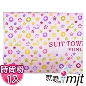 【微笑MIT】舒特 鯨魚絨面印花特大浴巾 YPR-570(時尚粉)