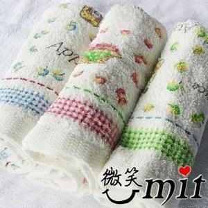 【微笑MIT】舒特 蘋果派印花毛巾/3入 MPR-965(三色)
