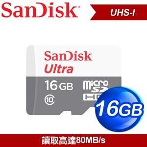 SanDisk 16GB Ultra Micro SDHCUHS-I 記憶卡