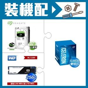 G3930處理器+希捷 新梭魚 1TB硬碟+WD SSD 256G M.2固態硬碟《黑標》