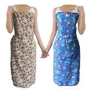 最新創新一秒穿脫蘇格藍圍裙-小碎花(1入)