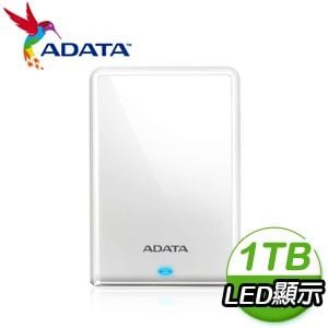 ADATA 威剛 HV620S 1TB 2.5吋 USB3.2 外接硬碟《白》