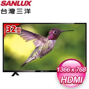 台灣三洋 32型LED液晶顯示器(SMT-32TA1) 含視訊盒