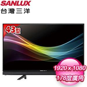 台灣三洋 43型LED液晶顯示器(SMT-43MA3) 含視訊盒