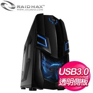 Raidmax 雷德曼【VIPER GXII】透側 ATX電腦機殼《黑藍》