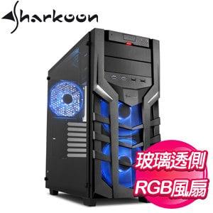 Sharkoon 旋剛【聖龍者 DG7000-G RGB 幻彩版】玻璃透側 ATX電腦機殼