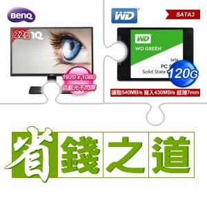 ☆自動省★ BenQ GW2270 21.5型 不閃屏+低藍光 液晶螢幕(X2)+WD 威騰 120G SSD《綠標》(X10)