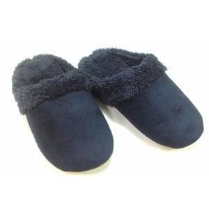 【Mocodo】沉靜森林絨毛保暖拖 藍色 28cm