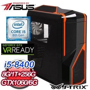 華碩 PLAYER【蜘蛛女王】Intel i5-8400六核心 GTX1060 6G 獨顯高效能SSD電腦