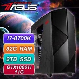 華碩 GAMER【萬界尊主】Intel i7-8700K六核心 GTX1080TI-P11G 電競霸主機