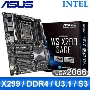 【客訂】ASUS 華碩 WS X299 SAGE LGA2066伺服器主機版