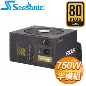 SeaSonic 海韻 SSR-750FM FOCUS Gold 750W 金牌 半模組 電源供應器(7年保)