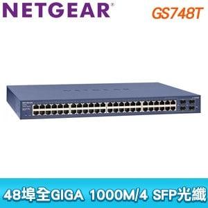 NETGEAR GS748T 48埠Giga智能網管交換器