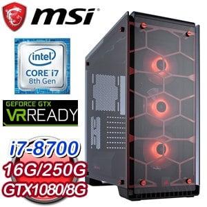 微星 HIGHER【無極劍聖】Intel i7-8700 六核心 電競專屬電腦