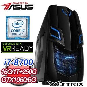 華碩 HIGHER【虛空恐懼】Intel i7-8700 六核心 高效能SSD電競電腦