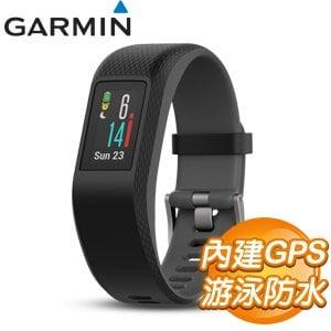 GARMIN vivosport GPS智慧健康心率手環《黑》(大)