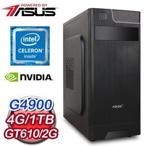 華碩 MANAGER【鍊魂獄長】Intel G4900雙核心 獨顯飆速上網機